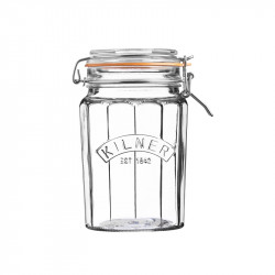 Słoik 0,95 l Facetted Clip Top Jars Kilner